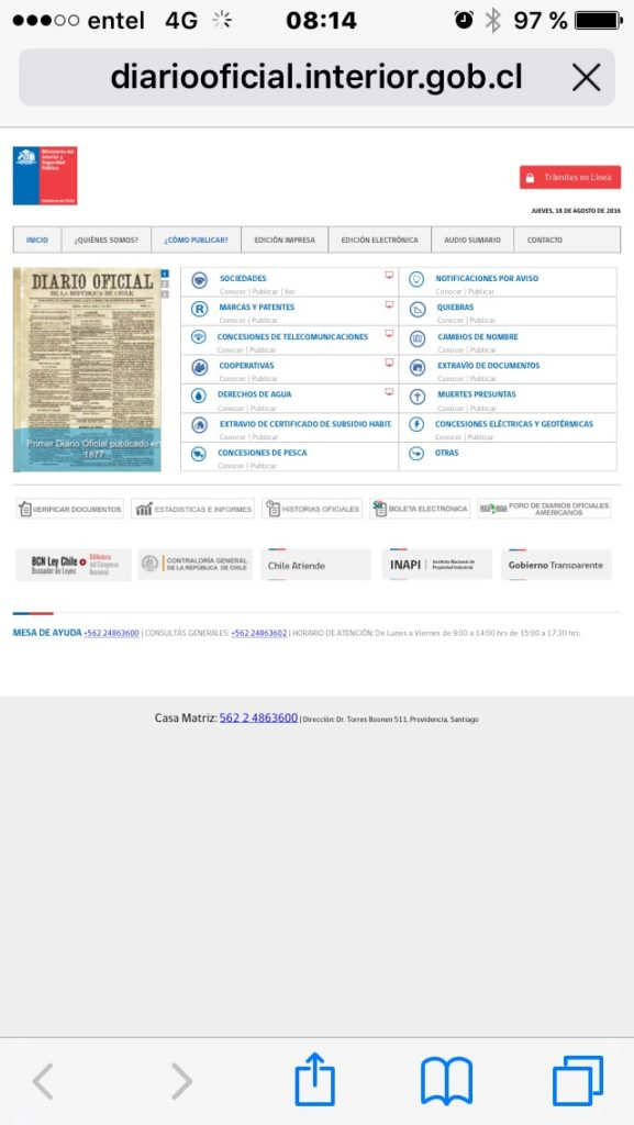Diario Oficial - Sitio Movil