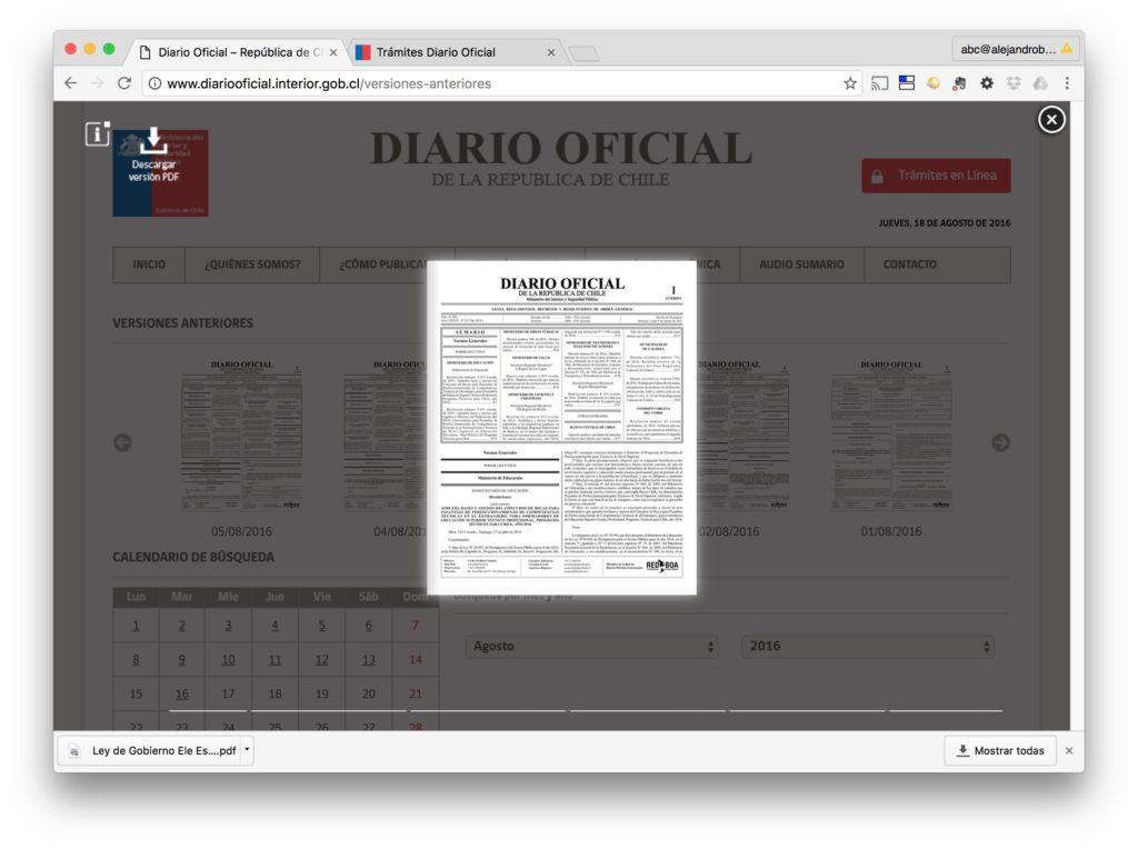 Diario Oficial - Edicion Impresa - Diario Oficial