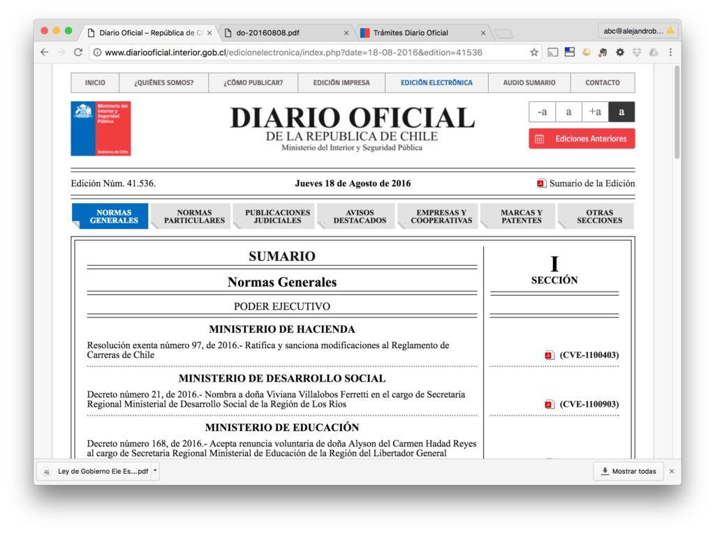 Diario Oficial - Edicion Electronica - Diario Oficial