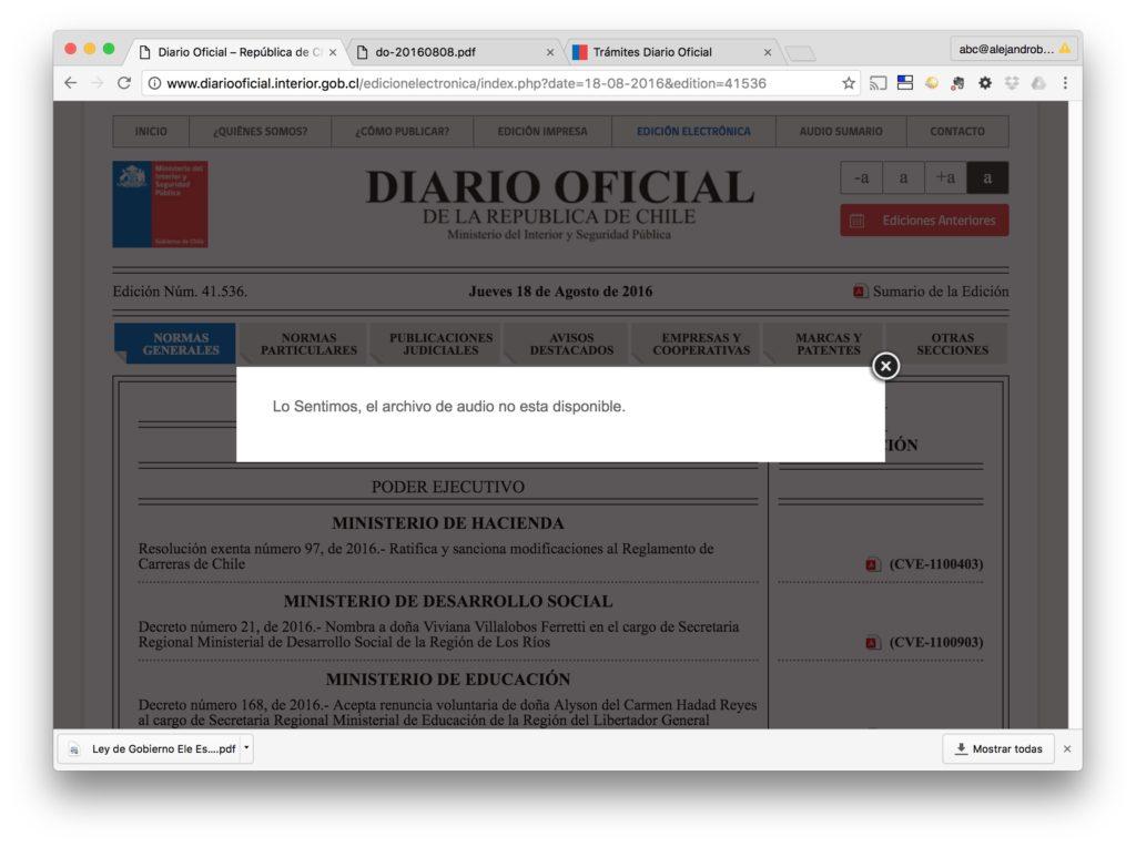 Diario Oficial - Pagina Audio - Diario Oficial