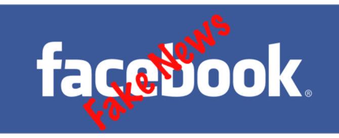 Logo con noticias falsas