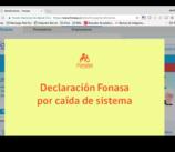 Sitio Web de FONASA (28/02/2018)