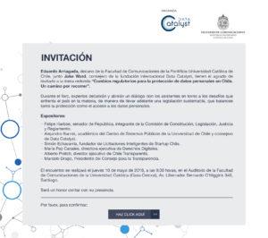 Invitacion a Evento Datacatalyst