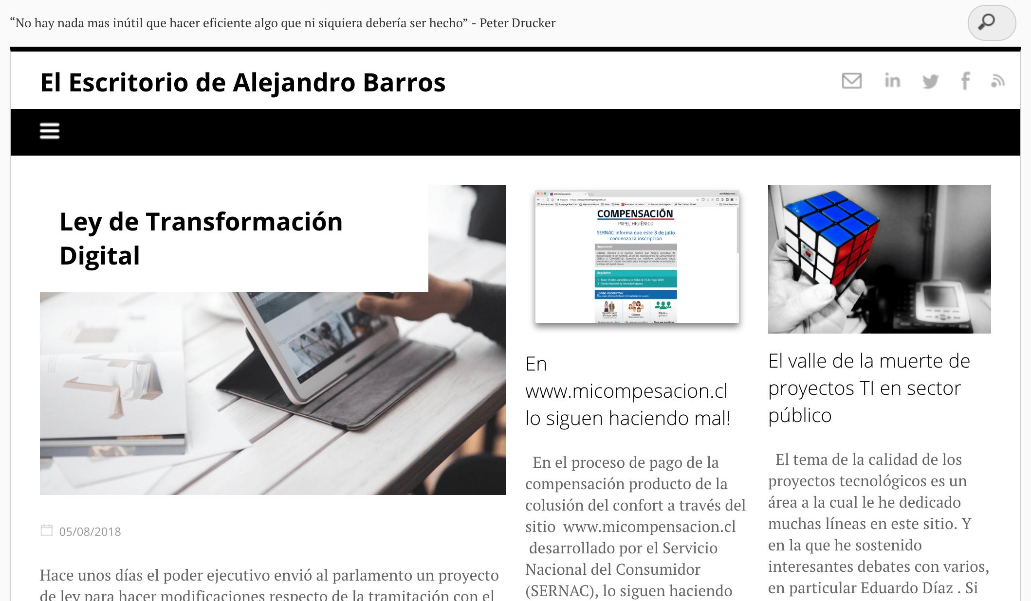 blog : El Escritorio de Alejandro Barros