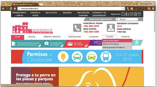 Home Page providencia.cl