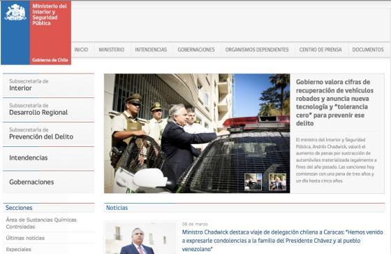 Las luces y sombras de la plantilla de sitios web del for Ministerio del interior pagina oficial